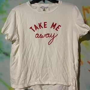 Take Me Away Velvet Popsugar Cropped Tee